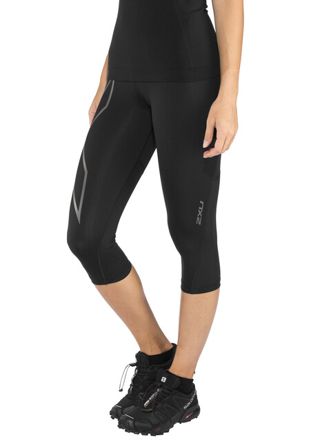 2XU Run Mid Rise - Pantalones largos running Mujer - negro
